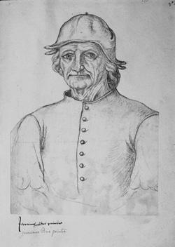 Jacques Le Boucq, Portrait of Hieronymus Bosch, ca. 1550 Arras, Bibliothèque Municipale